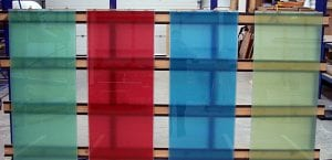 Switchable smart glass - coloured