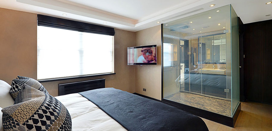 Switchable smart glass - laminated smart glass bathrooms
