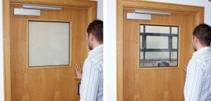 Switchable smart glass - door vision panel