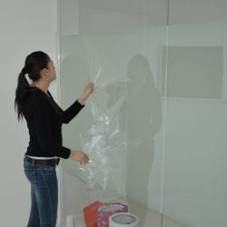 Switchable smart film installation - protective liner removal