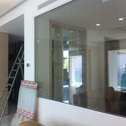 Switchable smart glass installation - switched on clear test
