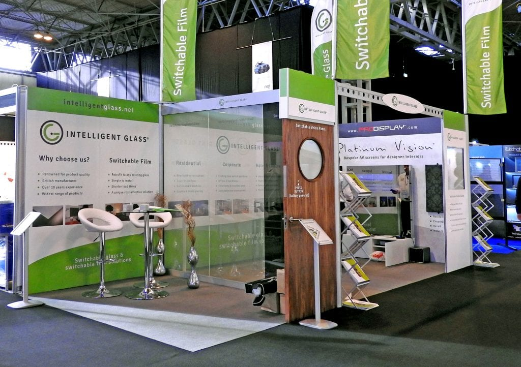 Intelligent Glass Smart Buildings exhibition stand
