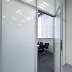 Switchable smart film boardroom - switched off frosted