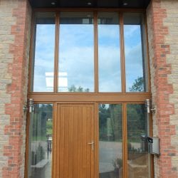 Switchable smart glass double glazed entrance - switched on clear