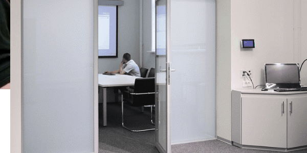 Acoustic Switchable Smart Glass technology working to keep office space sound down
