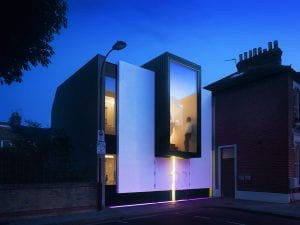 Switchable smart glass home - switched on clear