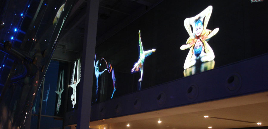 Switchable Glass Projection Screen