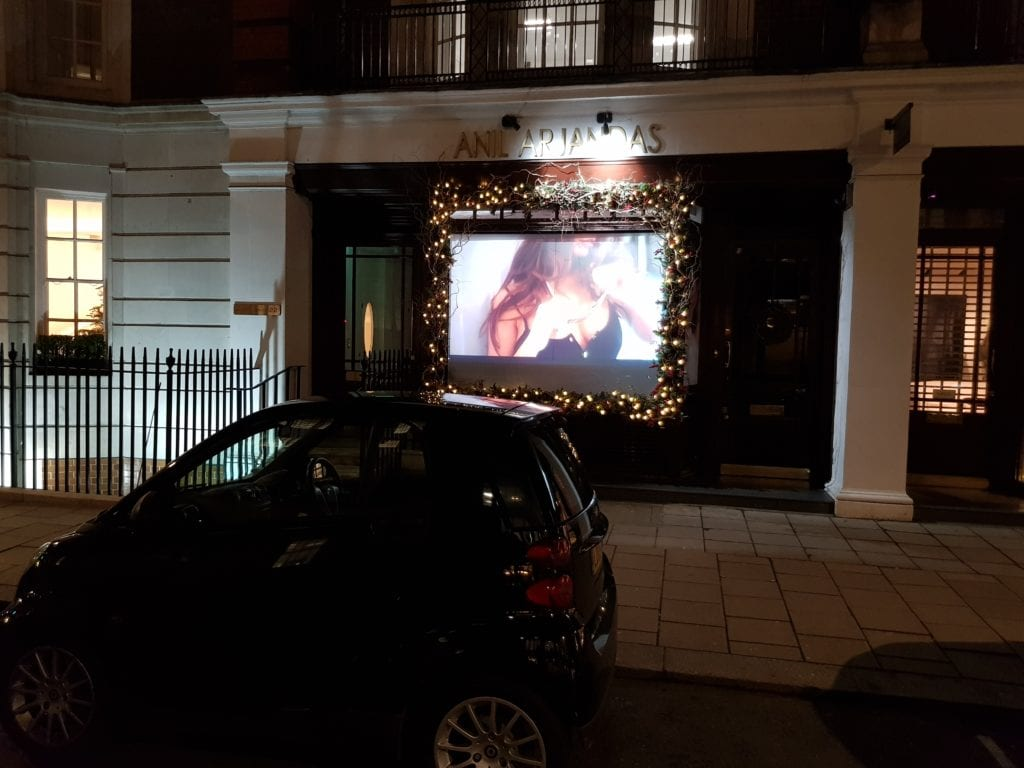 Switchable Projection Screen in window display