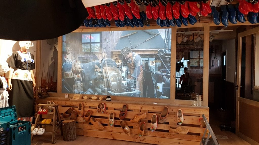 Switchable technology in The Wooden Shoe Factory