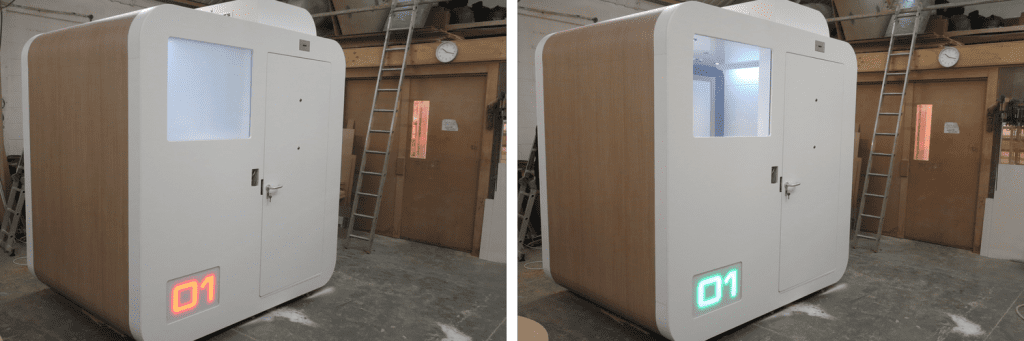 A Safe Space Pod with Switchable Panel