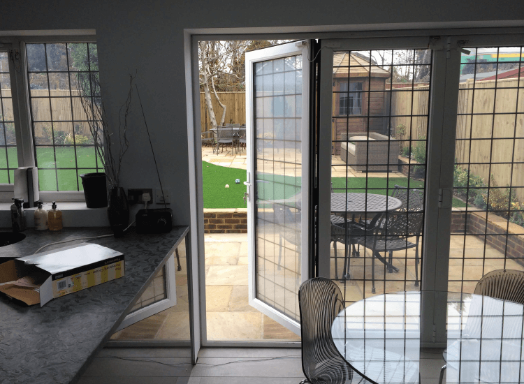 Switchable Smart Glass Bi-Fold Doors switched to on