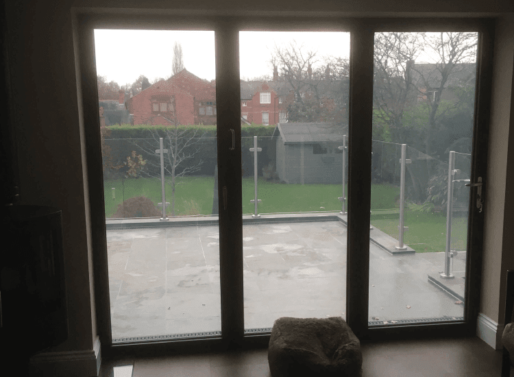 Switchable Smart Glass Double Glazed Bi-Fold Doors switched to on