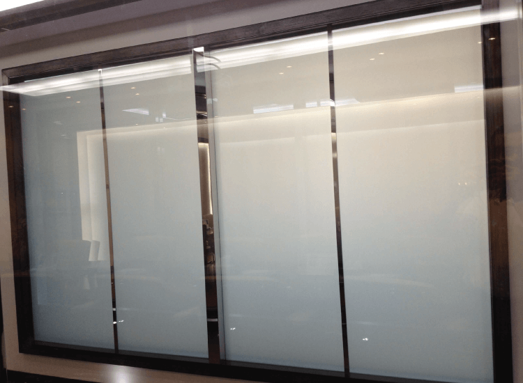 Corporate Office Privacy Glass Off