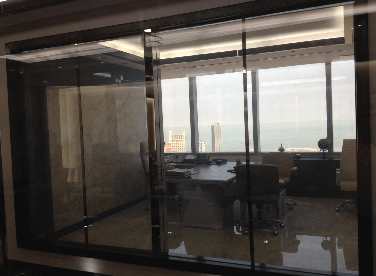 Corporate Office Privacy Glass on
