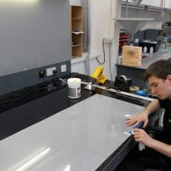 Switchable smart film factory preparation