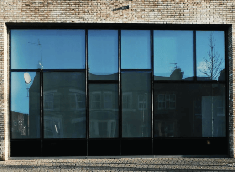 External Switchable Smart Glass Windows switched to off