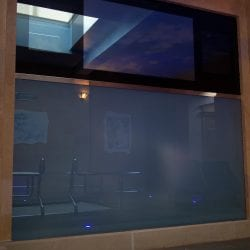 Switchable smart glass display case - switched off frosted