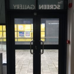 Switchable Smart Glass Doors switched to on