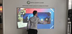 Interactive Switchable Smart Glass Projection Touch Screen