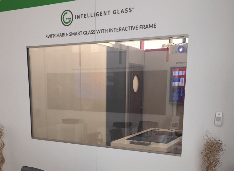 Interactive Switchable Smart Glass Screen on