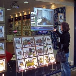 soundpod surface speaker estate agents window