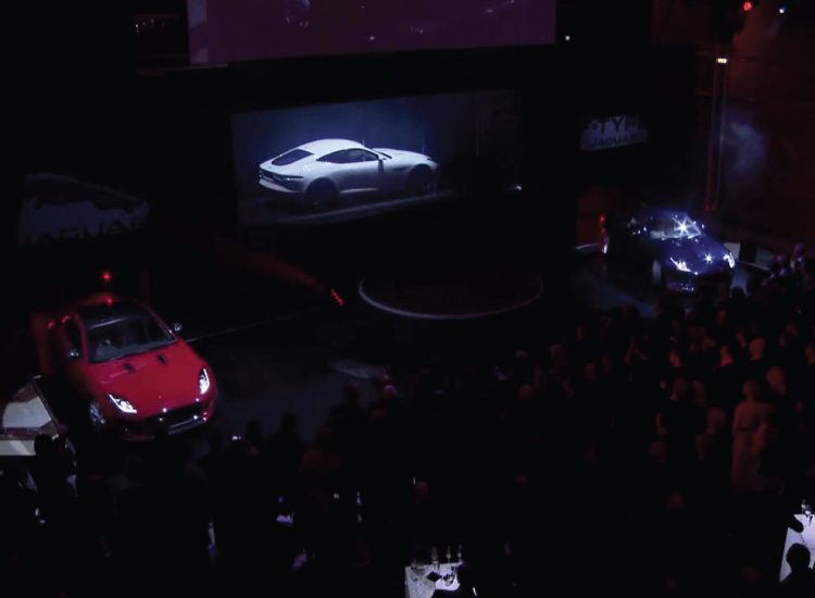 Jaguar Product Launch using Switchable Glass Projection Screen