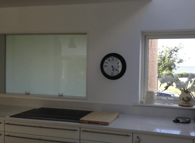 Kitchen internal Switchable Smart Windows switched to off