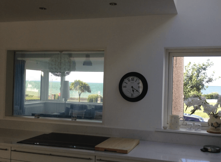 Kitchen internal Switchable Smart Windows switched to on