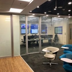 frosted office partition smart glass