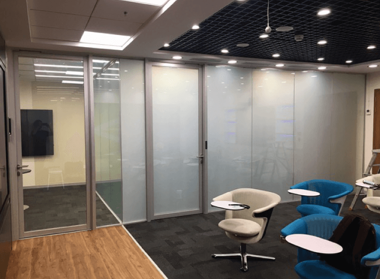 Office Privacy Switchable Smart Glass Partition