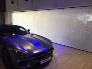 car show room switchable smart glass