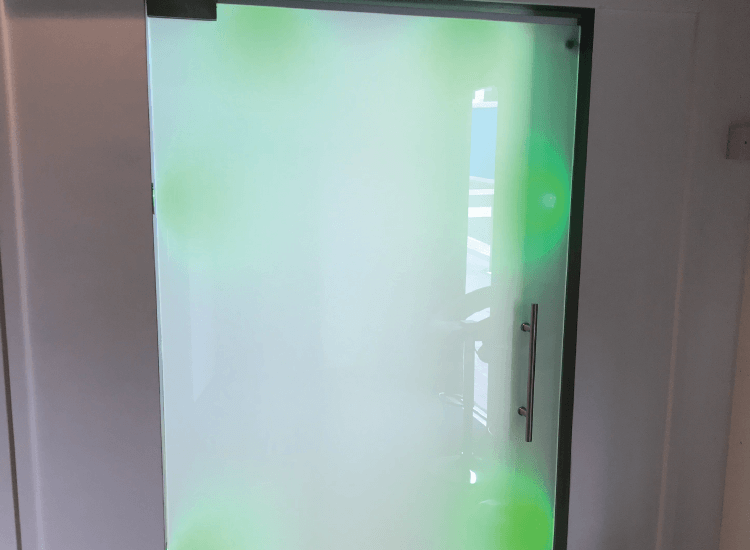 Themed Switchable Smart Glass Door switched to off