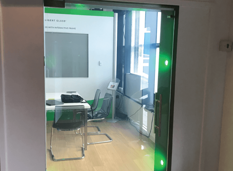 Themed Switchable Smart Glass Door switched to on