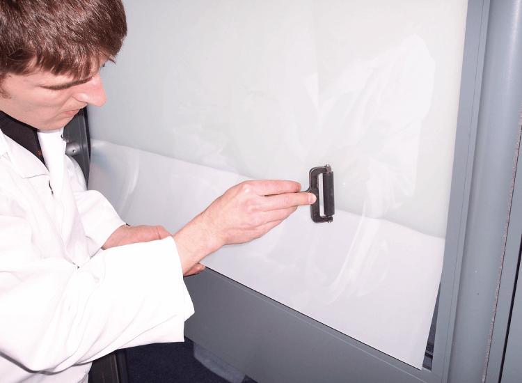 Retrofit Self Adhesive Switchable Smart Film installation