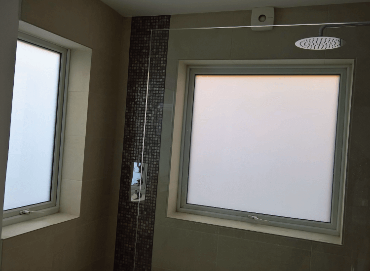 Shower External Window in bathroom switched to off