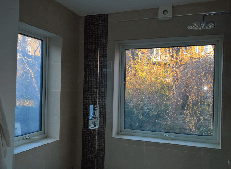 Shower External Window in bathroom switched to on