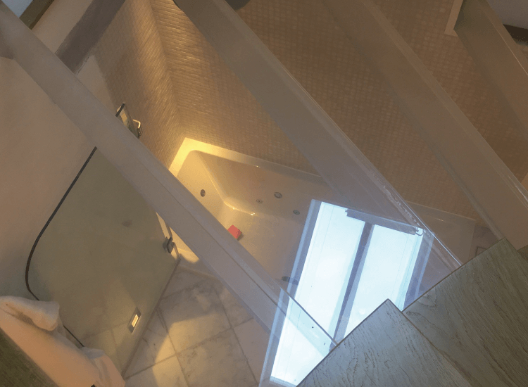 Switchable Smart Glass Stairs on