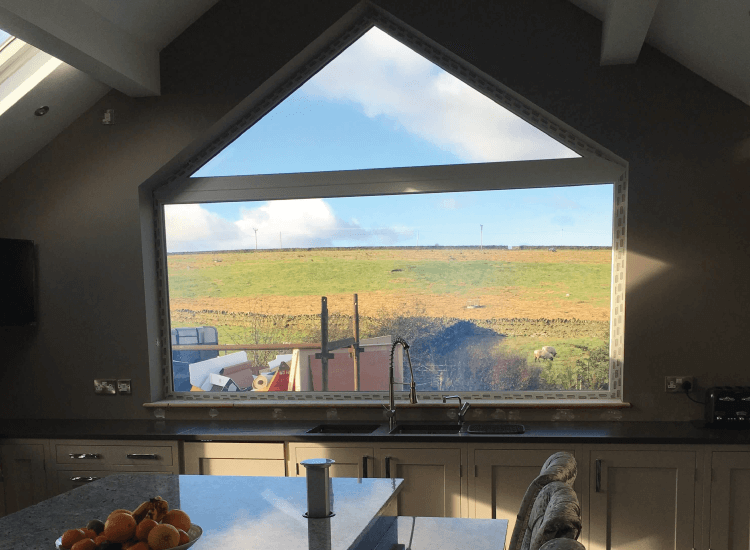 Kitchen external Smart Windows switched to on