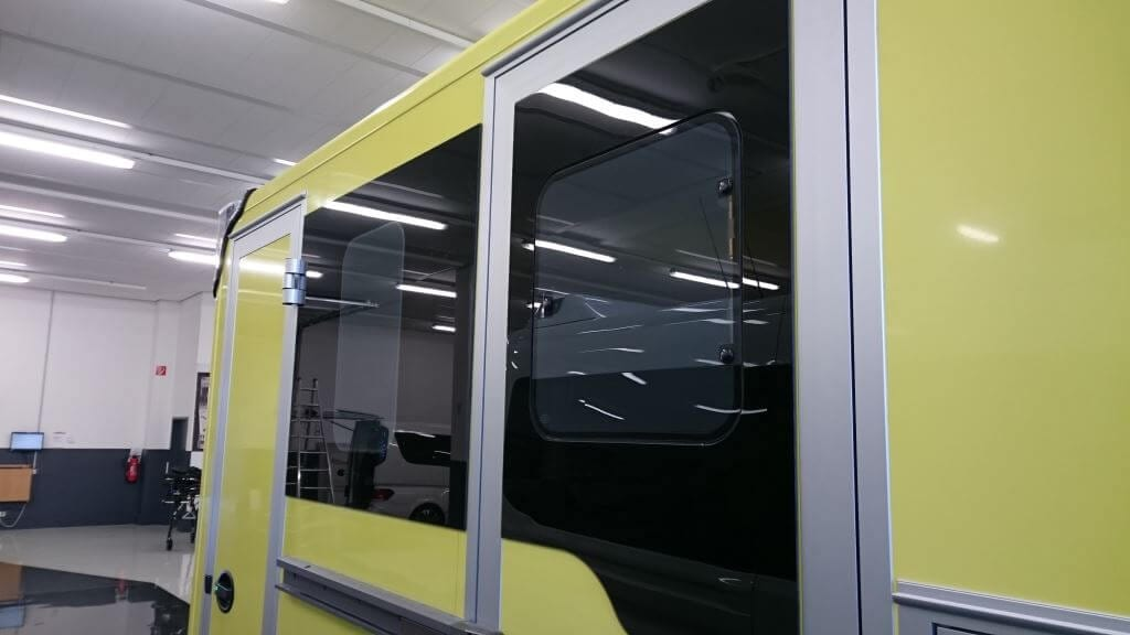 Switchable Smart Glass Ambulance Privacy