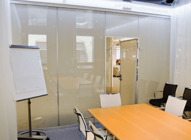 Self Adhesive Smart Film Office Meeting Room Privacy Switched to Off
