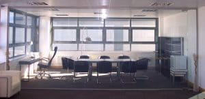 Toughened Switchable Smart Glass in an office