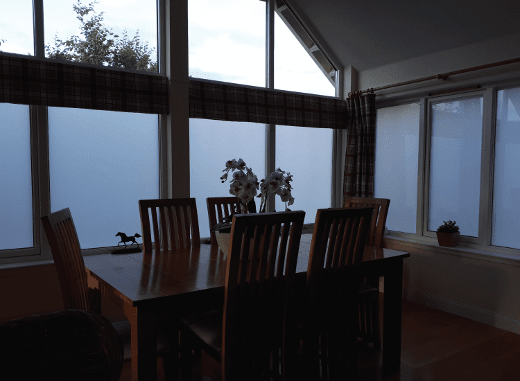 Residential conservatory external windows switched to off