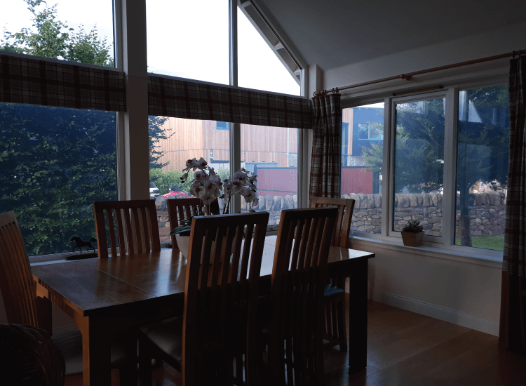 Residential conservatory external windows switched to on
