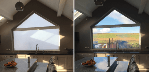 switchable smart glass in kitchen project