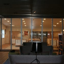 Switchable smart glass bifold doors - switched on clear