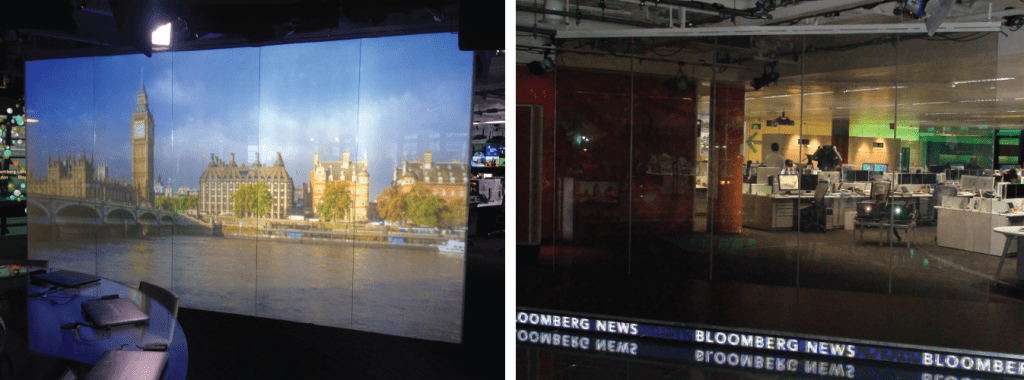 A Switchable Projection Screen used by Bloomberg