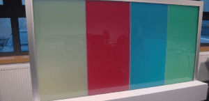 Switchable Coloured Glass