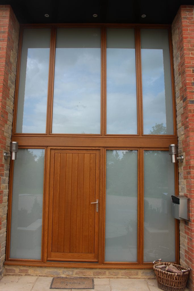 Switchable Smart Gl Double Glazed Entrance Switched Off Frosted