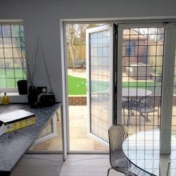 Switchable smart glass double glazing - switched on clear