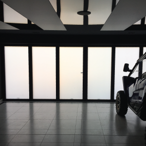 switchable smart glass garage switched to off thumbnail